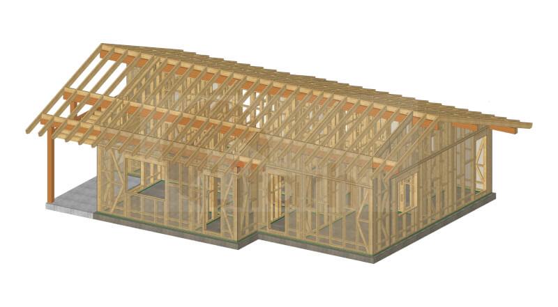 Casa de lemn trinita